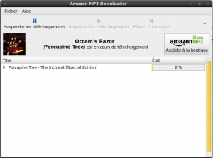 Telechargement via Amazon MP3 Downloader