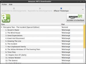 Fichiers Téléchargés avec Amazon MP3 Downloader