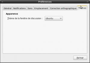 Configuration du thème Ubuntu sous Empathy