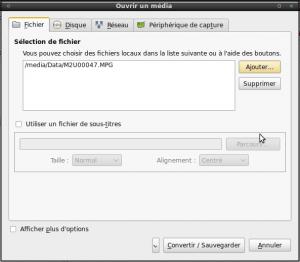 Extraction de la piste audio via VLC