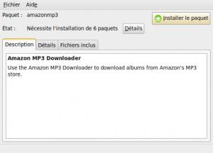 Installeur de paquet avec AmazonMP3
