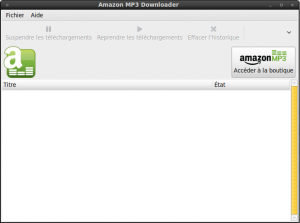 L'interface d'Amazon MP3 Downloader
