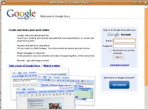 Google Doc dans scrreenlets