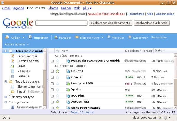 Google Docs avec Prism