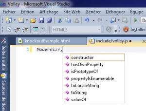 Completion JavaScript non active dans Visual Studio