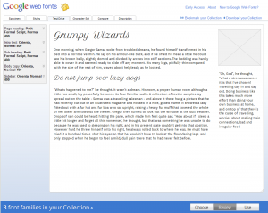 Mode Test Drive de Google Web Font