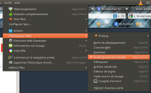 Firefox : Activation du Mode Responsive Design