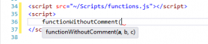 VS2012-FunctionWithOutComment