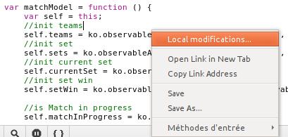 Accèder aux modifications locales d'un fichier JS