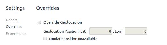 Emuler une géolocalisation