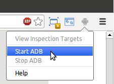 Lancement d'ADB