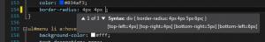 Intellisense CSS