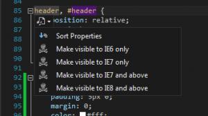 Tri des propriétés CSS et Hack IE